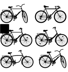 Bicycle pictogram set 3 vector