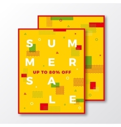 Summer sale poster card or flyer template modern vector