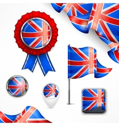 British national symbols vector image