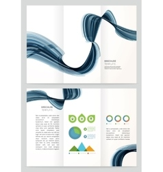 Brochure template design with vector
