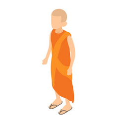 buddhist icon isometric style vector image vector image