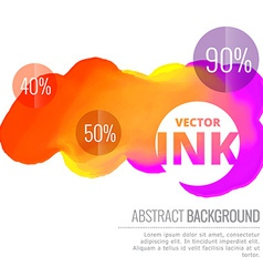 Colorful ink splash flowing design background vector