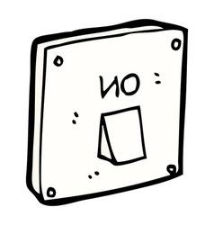 Comic cartoon light switch vector