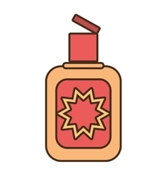Cream sun blocker beach icon vector