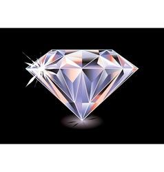 Cut diamond vector