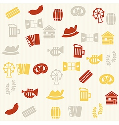 German seamless pattern vector image