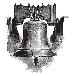 Liberty bell vintage vector