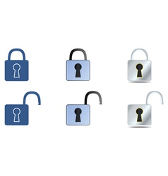 lock icons set vector image vector image