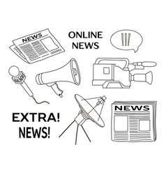 news set icon vector image vector image