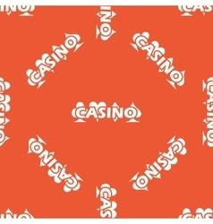 Orange casino pattern vector