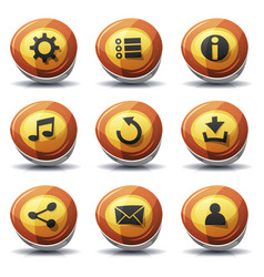 road sign icons and buttons for ui game vector image