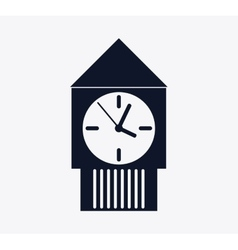 Silhouette clock icon time design graphic vector