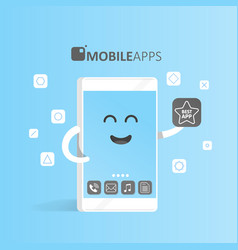 Smartphone concept of online app market purchase vector
