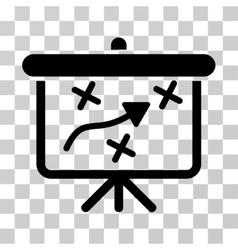 Strategy path demonstration board icon vector
