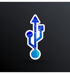 usb icon file compartment hardware symbol vector image vector image