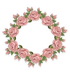 vintage roses floral crown summer roses vector image vector image