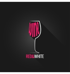 wine glass design background vector image vector image