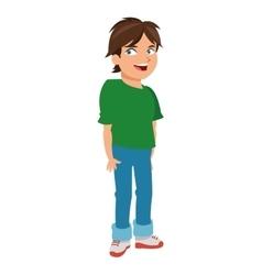 Young boy icon vector