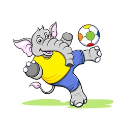 Elephant football vector