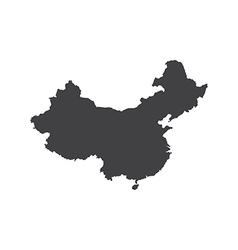 Republic of china map silhouette vector