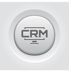 Desktop crm system icon grey button design vector