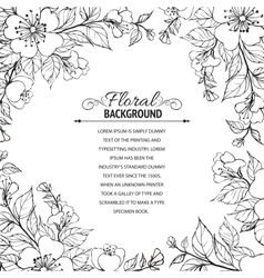 Flower frame vector