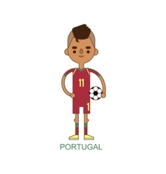 National portugal soccer football player vector