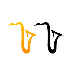 Style comic logo of sax vector