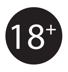 18 years old sign adults content only icon vector