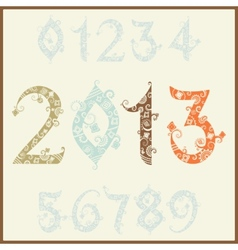 New year 2013 two thousand and thirteen set of vector