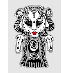 Cute ornate doodle fantasy monster vector
