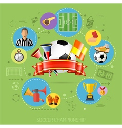 Soccer infographics vector
