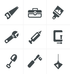 Basic - tools and construction icons vector