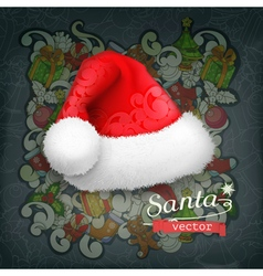Santa claus hat icon vector