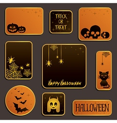 Halloween labels vector