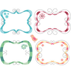Cute frames vector