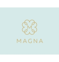 Abstract monogram elegant flower logo icon design vector