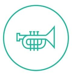 Trumpet line icon vector