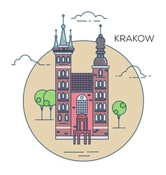 Krakow city vector