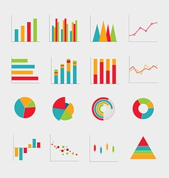 Collection of business diagrams charts vector