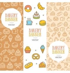 Bakery Banner Flyer Vertical Set vector image vector image