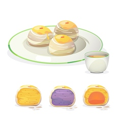 chinese pastry vector image vector image