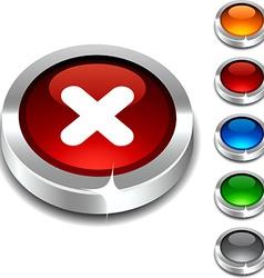 Cross 3d button vector