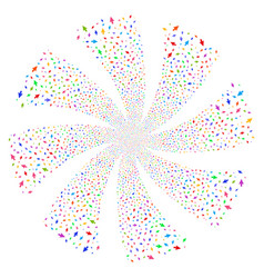 Cursor arrow fireworks swirl flower vector