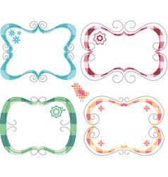 Cute frames vector