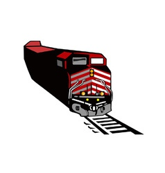 Diesel train retro vector