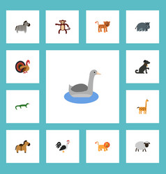 flat icons pony horse mutton and other vector image vector image