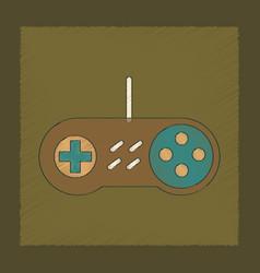 Flat shading style icon game joystick vector