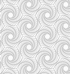 Gray striped shapes resembling roses vector