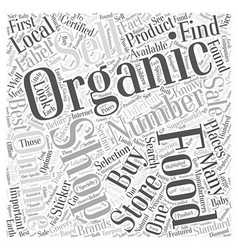 How to buy organic foods word cloud concept vector
